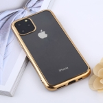 Transparent TPU Anti-Drop And Waterproof Mobile Phone Protective Case for iPhone XI Max (2019) (Gold)