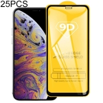 25 PCS 9H 9D Full Screen Tempered Glass Screen Protector for iPhone XI Max (2019)