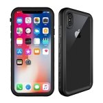 2m Waterproof Snowproof 2m Shockproof Dustproof PC+Silicone Case for iPhone X / XS (Black)