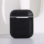 USAMS US-BH503 Wireless Earphones Shockproof Ultra-thin Silicone Protective Case for Apple AirPods 1 / 2 (Black)
