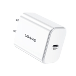 USAMS US-CC068 T14 PD Fast Travel USB Charger, CN Plug(White)