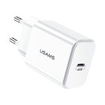 USAMS US-CC069 T14 PD Fast Travel USB Charger, EU Plug(White)