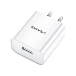 USAMS US-CC074 T18 2.1A Single USB Travel Charger, CN Plug (White)