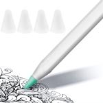 4 PCS Non-slip Mute Wear-resistant Nib Cover for Apple Pencil 1 / 2 (Transparent)