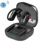 HBQ-Q62 TWS Bluetooth 5.0 Wireless Stereo Bluetooth Earphone with Charging Box & Digital LED Light, Support Siri (Black)