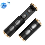 A3 TWS IPX5 Waterproof Bluetooth 5.0 Wireless Bluetooth Earphone with Charging Box, Support Call & IOS Display Power(Gold)