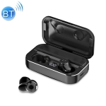 A6 TWS Bluetooth 5.0 Touch Wireless Bluetooth Earphone with Charging Box & LED Smart Digital Display, Support Voice Assistant & Memory Connection & HD Call (Black)