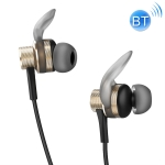 rock space MUVIA H2 Bluetooth 5.0 Line-controlled Magnetic Bluetooth Earphone, Cable Length: 630mm (Gold)