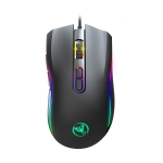 HXSJ A869 7200 DPI Six-speed Adjustable 7-keys Macro Definition Programmable Colorful Light-emitting Wired Game Optical Mouse, Cable Length: 1.5m