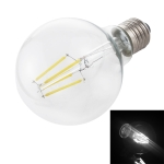 G80 E27 4W 4 LEDs 450 LM 6000K Transparent Retro LED Filament Light  Energy Saving Bulb, AC 220V(White Light)