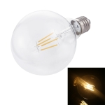 G95 E27 4W 4 LEDs 450 LM 3000K Retro Dimming LED Filament Light Bulb Energy Saving Light, AC 220V(Warm White)
