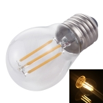 G45 E27 4W 4 LEDs 450 LM 3000K Retro Dimming LED Filament Light Bulb Energy Saving Light, AC 220V(Warm White)