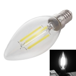 C35 E14 4W 4 LEDs 300 LM 6500K Dimmable Retro LED Filament Light Bulb Energy Saving Light, AC 220V(White Light)