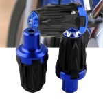 MB-FS004 Motorcycle Modified Body Anti-fall Bar for 10mm Screw Hole Cars, One Pair(Black Blue)