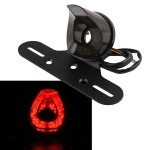 MB-LPF001-BK Motorcycle Modified Universal Retro Heart-shaped LED Tail Light with License Plate Frame Function