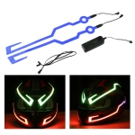 MB-MHL002 Motorcycle Modification Accessories Universal Pasteable Helmet Light Strip(Blue)