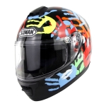 Outdoor Motorcycle Electric Car Riding Helmet, Size: L, 59-60cm (Palm Flower)