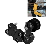 HC154 Motorcycle Modified Accessories Universal Aluminum Alloy Chain Adjuster(Black)
