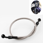 Motorcycle Modified Accessories Universal Steel Wire Braided High Temperature Resistance Brake Hose, Length: 575mm(Black)