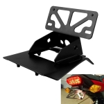 MB-LPF002-BK Motorcycle Modification Accessories Aluminum Alloy License Plate Bracket for Honda Grom / MSX125 (2017+)