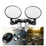 MB-MR010-BK Modified Motorcycle 22mm Rearview Mirror Rearview Side Mirrors