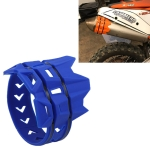 MB-TP093 Universal Motorcycle Exhaust System Escape Muffler Silencer Protector Guard (Blue)