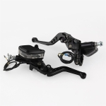 Leaf Shape Modified Motorcycle Hand Brake Clutch Hydraulic Brake Lever (Black)