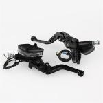 Leaf Shape Modified Motorcycle Hand Brake Clutch Hydraulic Brake Lever (Black)