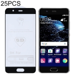 25 PCS 9H 5D Full Glue Full Screen Tempered Glass Film for Huawei P10