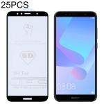 25 PCS 9H 5D Full Glue Full Screen Tempered Glass Film for Huawei Y6 (2018) / Enjoy 8e