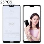 25 PCS 9H 5D Full Glue Full Screen Tempered Glass Film for Huawei Honor 9i