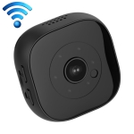 HICAM H9 Mini HD 1280 x 720P 120 Degree Wide Angle Wearable Smart Wireless WiFi Surveillance Camera, Support Infrared Night Vision & Motion Detection Recording & 10-20m Local Monitoring & Loop Recording & 64GB Micro SD (TF) Card (Black)
