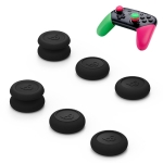 Left + Right Gamepad Rocker Cap Button Cover for NS Pro / PS4 (Black)