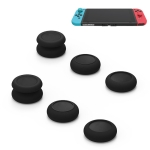 Left + Right Gamepad Rocker Cap Button Cover for Switch (Black)