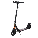 Folding Aluminum Alloy Adult Shock Pedal Two-wheeled Scooter (Black)