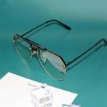 8865 HD Polarized UV Protection Color Pilot-style Frameless Sunglasses