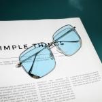 7294 UV Protection Radiation Protection Macarons Square Frame Sunglasses (Sky Blue)