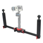 PULUZ Dual Handheld Grip Aluminum Alloy Stabilizer for DJI RONIN-S