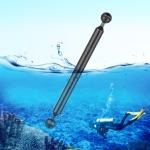 PULUZ 11 inch 27.9cm Length 20.8mm Diameter Dual Balls Carbon Fiber Floating Arm, Ball Diameter: 25mm (Black)
