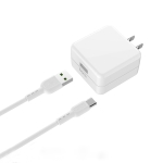 hoco C66 Surpass Flash Fast Charger Set with Type-C to USB Data Cable, US Plug (White)