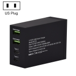 F9 50W 2 QC 3.0 USB Ports + 2 USB-C / Type-C Ports Smart Charger, US Plug