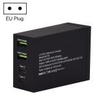 F9 50W 2 QC 3.0 USB Ports + 2 USB-C / Type-C Ports Smart Charger, EU Plug