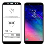 9H 5D Full Glue Full Screen Tempered Glass Film for Galaxy A6+ (2018)