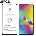 25 PCS 9H 5D Full Glue Full Screen Tempered Glass Film for Galaxy M20