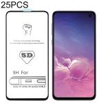 25 PCS 9H 5D Full Glue Full Screen Tempered Glass Film for Galaxy S10 E