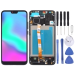 LCD Screen and Digitizer Full Assembly with Frame for Huawei Honor 10 (Black)