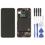 LCD Screen and Digitizer Full Assembly with Frame for Galaxy A40 SM-A405F (Black)