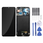 LCD Screen and Digitizer Full Assembly with Frame for Galaxy A50 SM-A505F (Black)