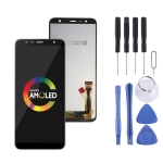 LCD Screen and Digitizer Full Assembly for Galaxy J4 Core J410F (Black)