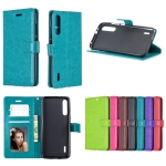 Crazy Horse Texture Horizontal Flip Leather Case with Holder & Card Slots & Wallet & Photo Frame For Xiaomi Mi A2(purple)